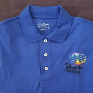 The Miracle is You Short Sleeve Cobalt Blue Polo