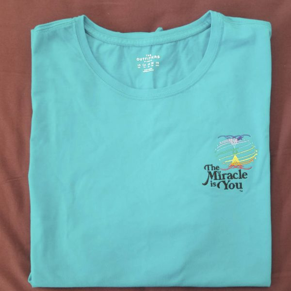 The Miracle is You Jersey Tshirt Turquoise